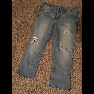 American eagle jeans/ distressed style artist